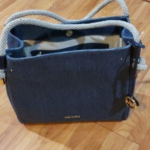 Michael Kors Isla Satchel Textured Leather Handbag